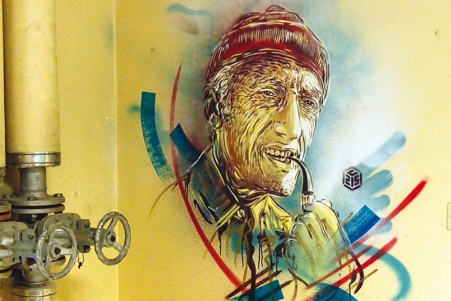 C215 –  E = MC215 – commandant Jacques-Yves Cousteau, 2015.  CEA de Saclay.