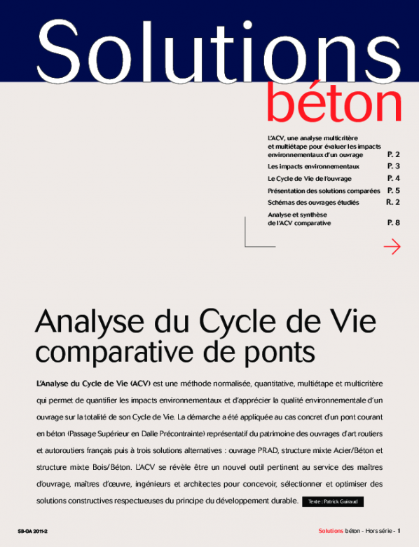 Analyse du Cycle de Vie comparative de ponts