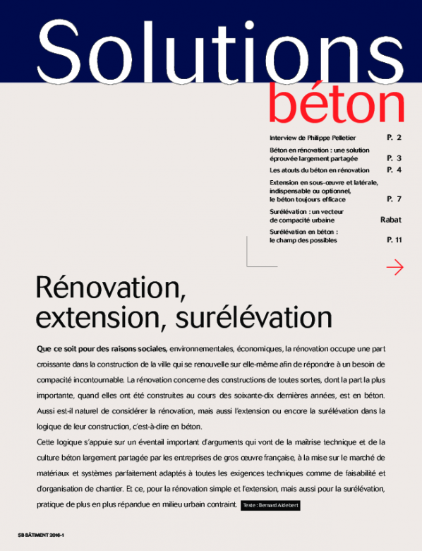 Rénovation, extension, surélévation